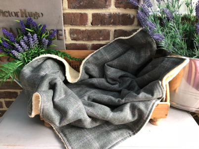 Luxury Tweed Blanket In Jasper Check