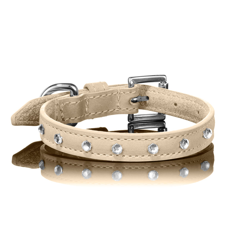 Swarovski Collar in Tan