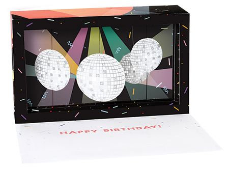 Disco Balls Shadowbox Pop-up Card