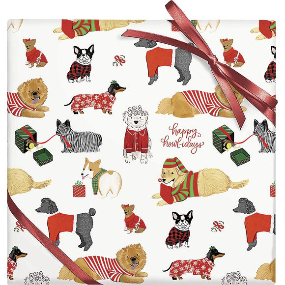 Happy Howlidays Dogs Roll