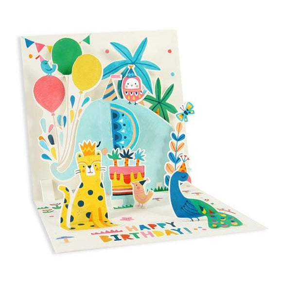 Elephant Treasured Pop-up card