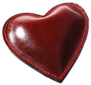 Leather Heart Paperweight