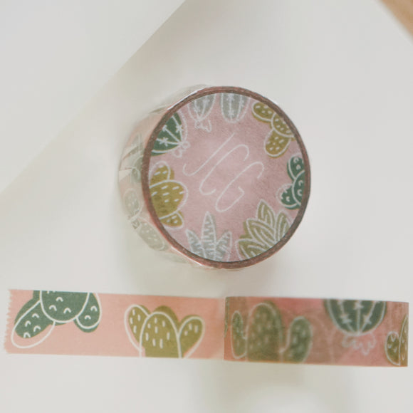 Cactus and Succulent Washi Tape