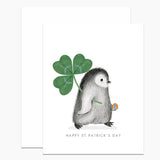 St. Patrick's Day Penguin Card