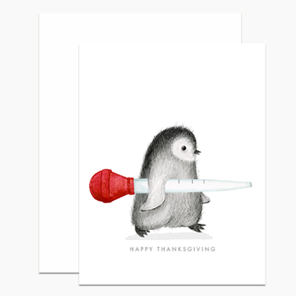 Penguin with Baster Card