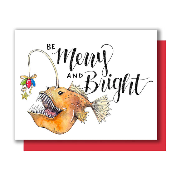 Merry Bright Anglerfish Card