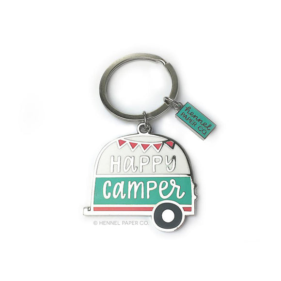 Happy Camper Keychain