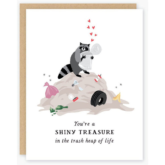 Shiny Treasure Raccoon Card