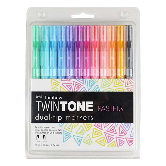 TwinTone Marker Set - Pastel (12 Pack)