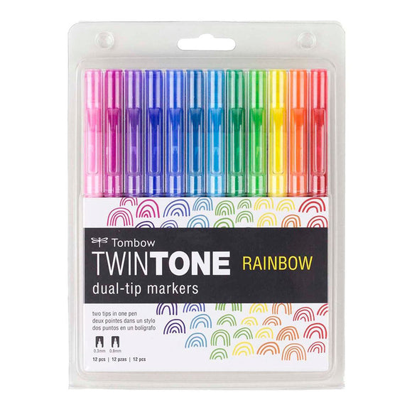 TwinTone Marker Set - Rainbow (12 Pack)