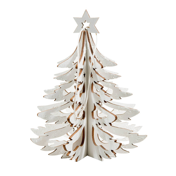 White 3D Wood Tabletop Tree