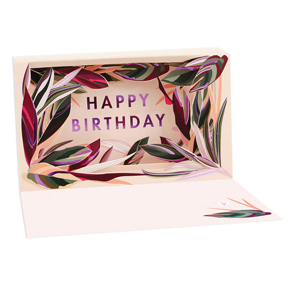 Birthday Leaves Delighted Shadowbox Card
