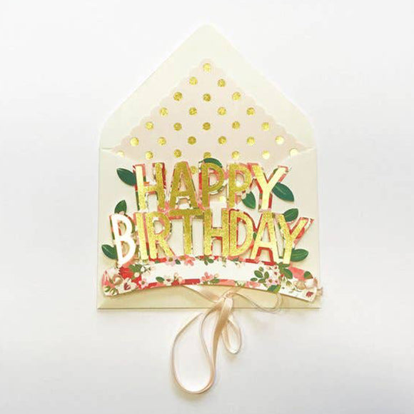 Wearable Happy Birthday Crown Card