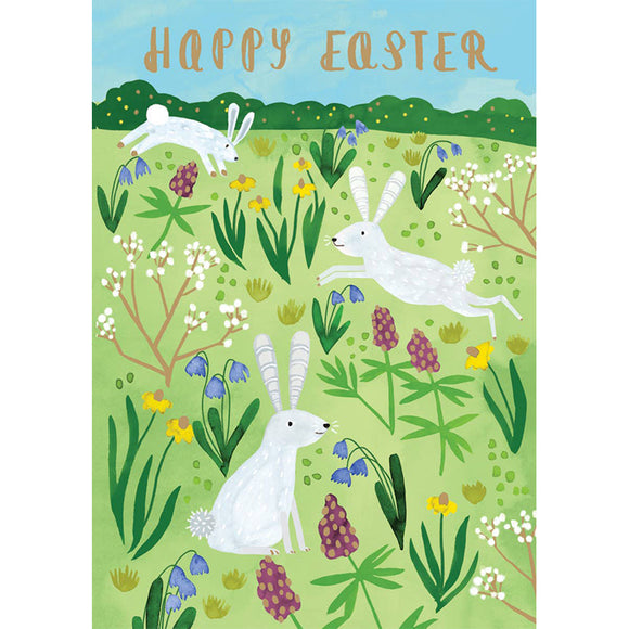 Field of Bunnies Easter Card