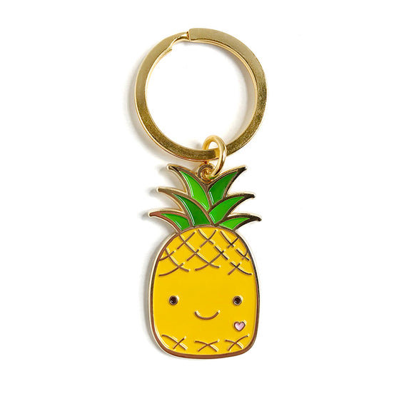 Enamel Keychain - Happy Pineapple