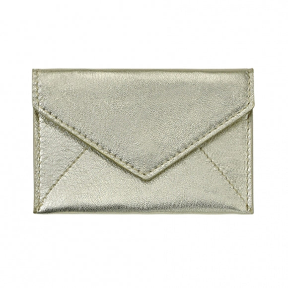 Mini Envelope/Business Card Holder - White Gold