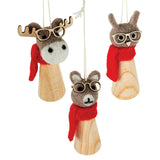 Felt Animals Ornament - Moose