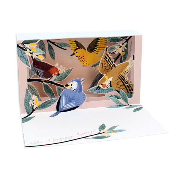 Feathered Friends Delighted Shadowbox Card