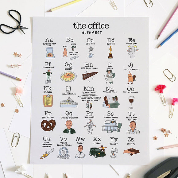 The Office Alphabet Poster