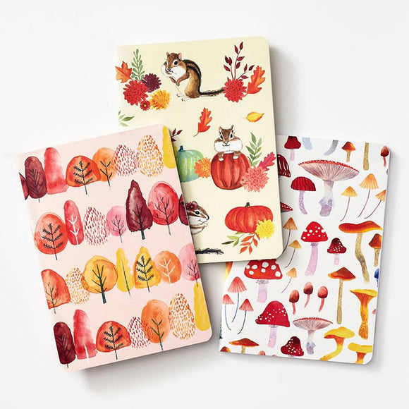 Autumn Botanical Journals (Set of 3)