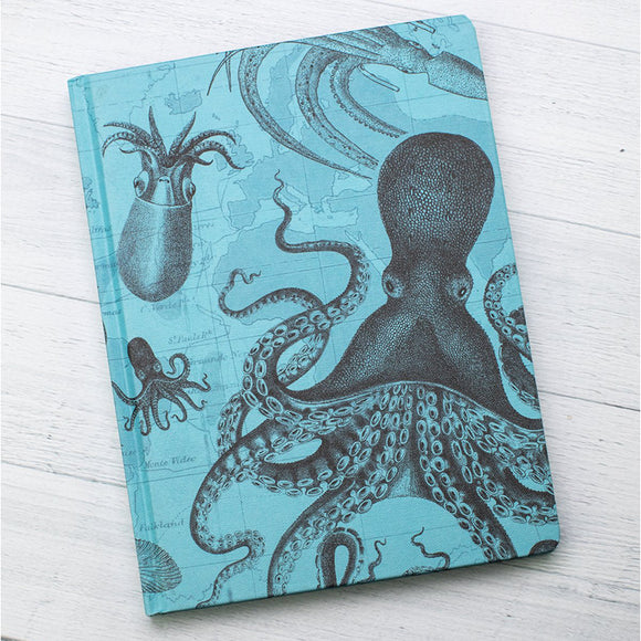 Lined and Grid Journal - Octopus & Squid