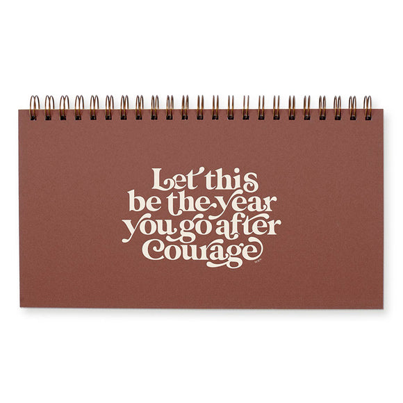 Go After Courage Weekly Planner