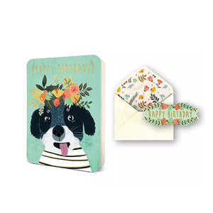 Happy Birthday Dog Card/Sticker