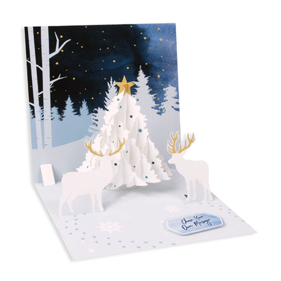Midnight Tree Treasures Pop-up Card
