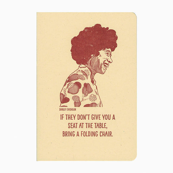 Shirley Chisholm Letterpress Notebook