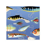 Fishing Lures Treasures Pop-up Card