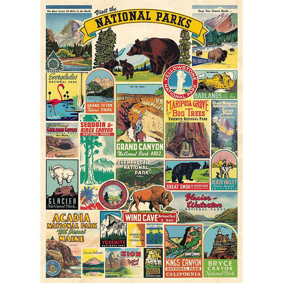Cavallini Flat Wrap - National Parks