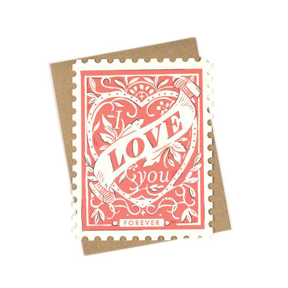 I Love You Forever Stamp Card