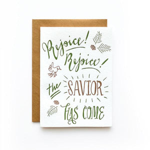 Rejoice Rejoice Holiday Card (Set of 6)