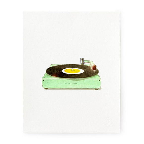 Retro Record Player Art Print
