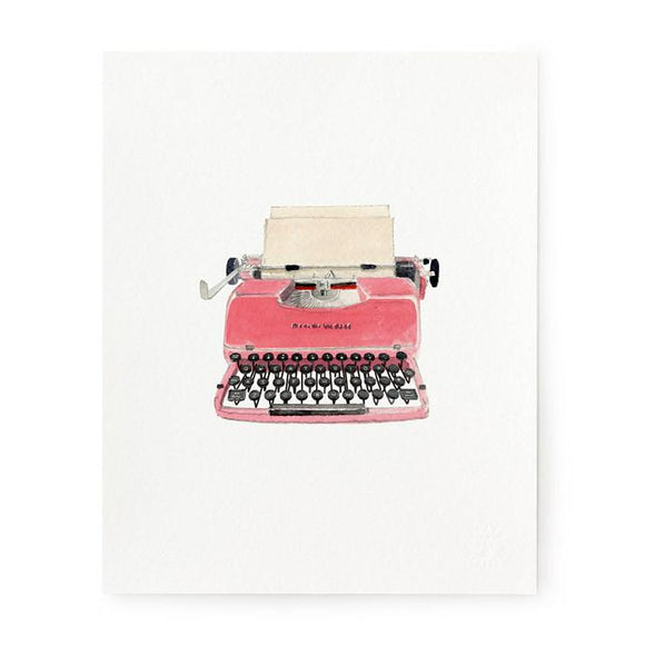 Retro Typewriter Art Print