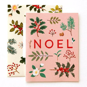 Holiday Plants Noel Card - Pink (Boxed of 8)