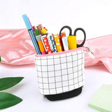 Grid Style Telescoping Pencil Pouch