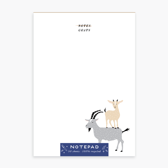Goat Notes Notepad