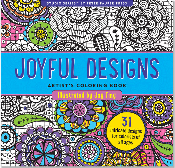 Joyful Designs Artist's Coloring Book
