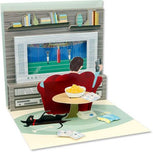 Couch Potato Treasures Pop-up Card