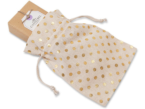 Cotton Gift Bag (Gold or Foil) - multiple sizes