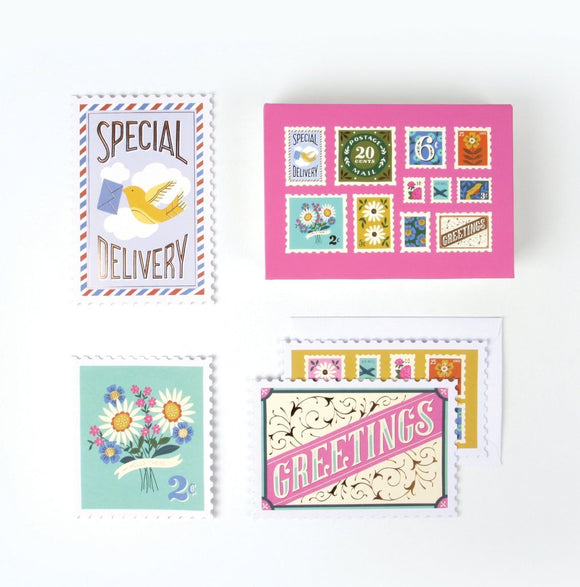 Postage Stamp Notecards (Set of 8)