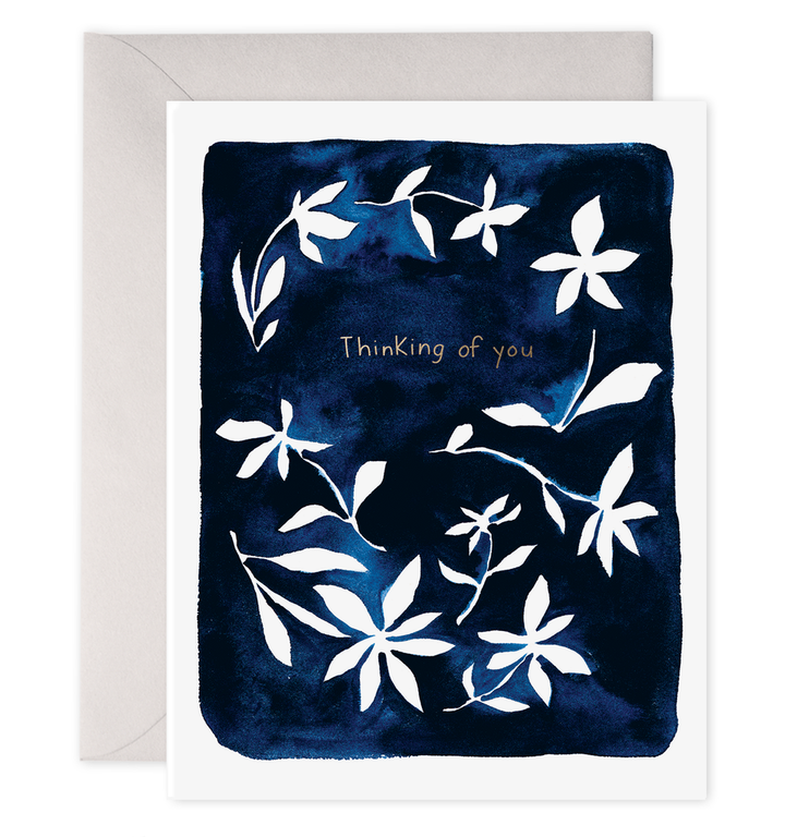 Indigo Flowers card