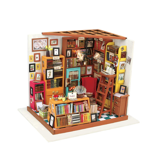 Sam's Study DIY Miniature Dollhouse Kit
