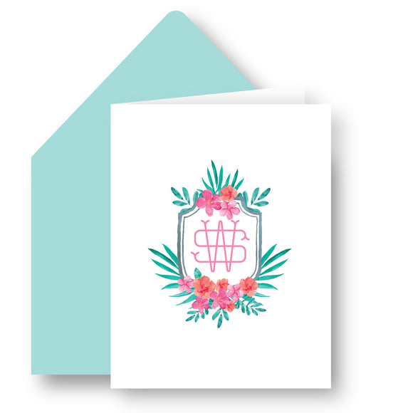Folded Notecards - Floral Crest 47