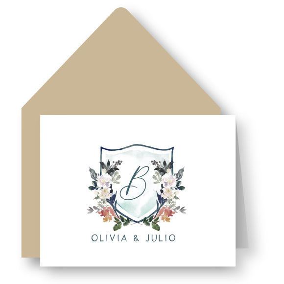 Folded Notecards - Floral Crest 61