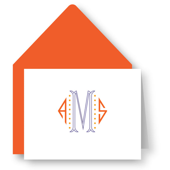 Folded Notecards - Monogram 63
