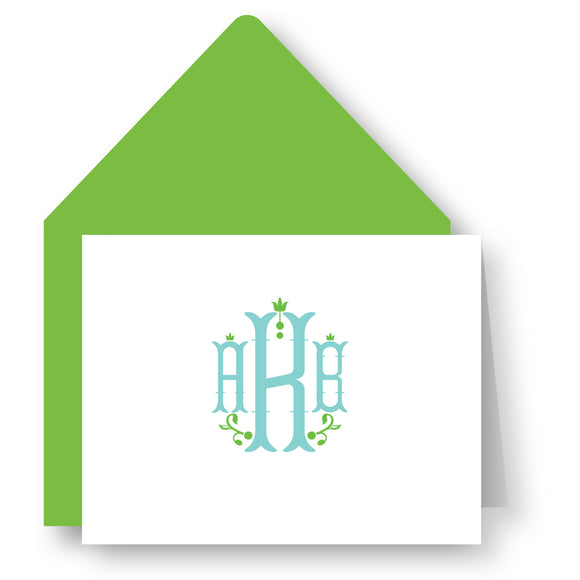 Folded Notecards - Monogram 81