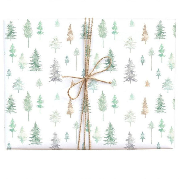 Peaceful Forest Gift Wrap (Roll or Single)
