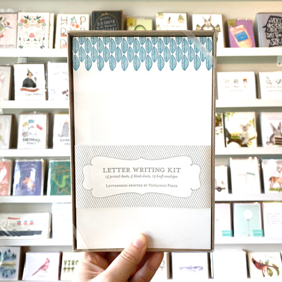 Letter Writing Kit (blue leaves)